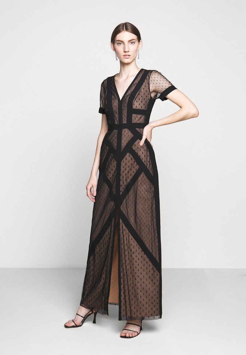 BCBGMAXAZRIA - EVE LONG DRESS - Vestido de fiesta - black