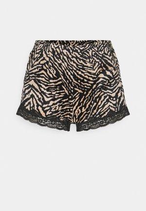 SHORT SCALLOP ZEBRA - Pyjama bottoms - black