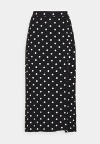 Even&Odd - Midi high slit high waisted skirt - Falda de tubo - black/white - 3