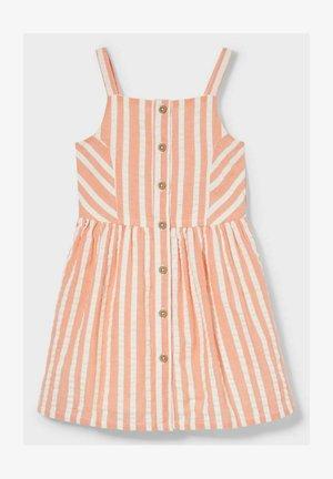 Day dress - orange / cremewhite