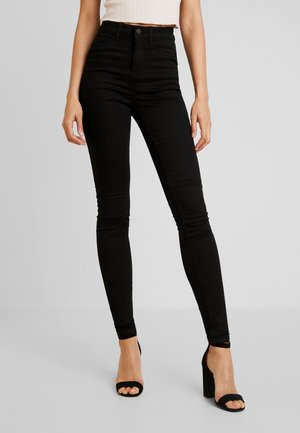 NMCALLIE  HW SKINNY JEANS VI023BL N - Jeans Skinny Fit - black denim
