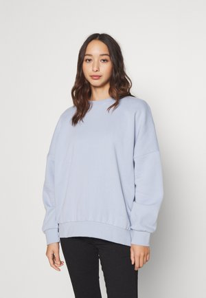 Oversized Crew Neck Sweatshirt - Sweatshirt - light blue
