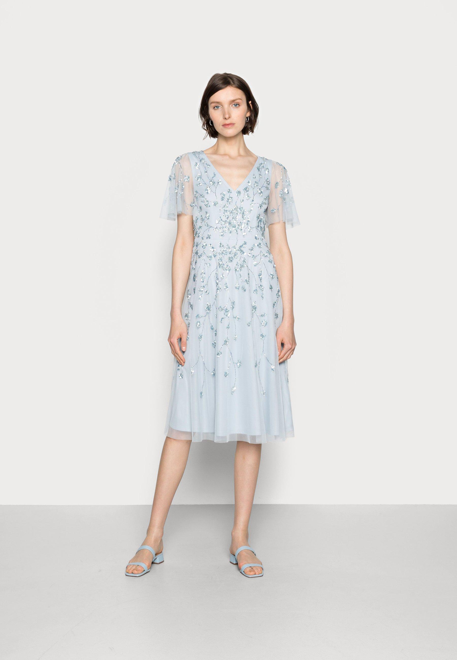 Women BEADED MIDI DRESS - Cocktail dress / Party dress