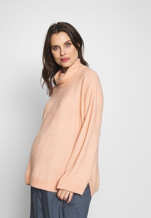 MATERNITY SLOUCHY ROLL NECK - Sweter - rose smoke