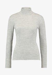 Selected Femme Petite - SLFCOSTA ROLLNECK  - Jumper - light grey melange - 3