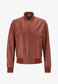 BOSS - NIPET - Leather jacket - brown - 5