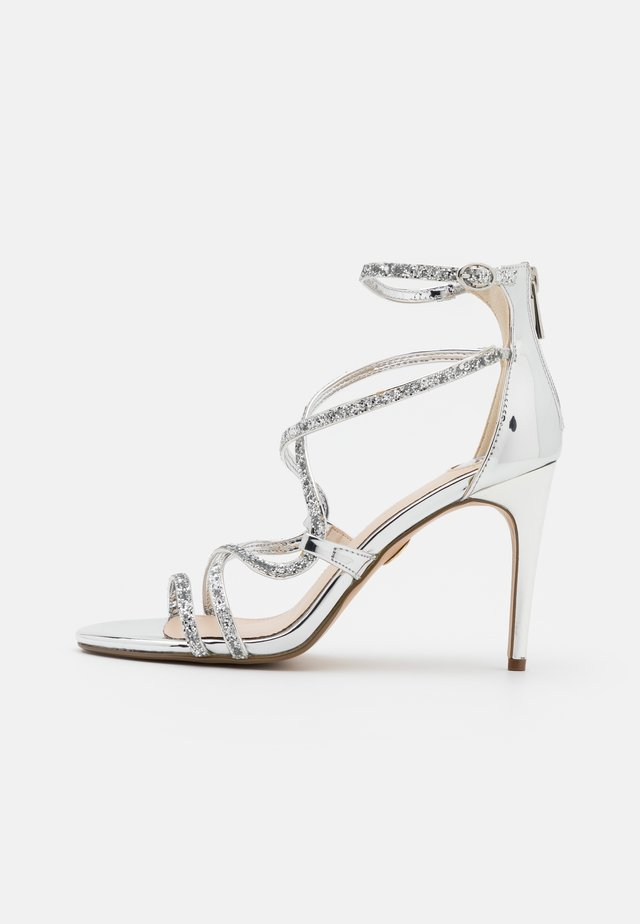 MERCY - High heeled sandals - silver