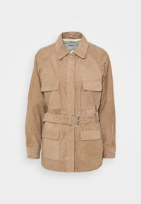 Deadwood - SAHARA JACKET - Leather jacket - sand - 4