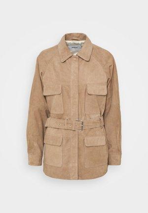 SAHARA JACKET - Leather jacket - sand