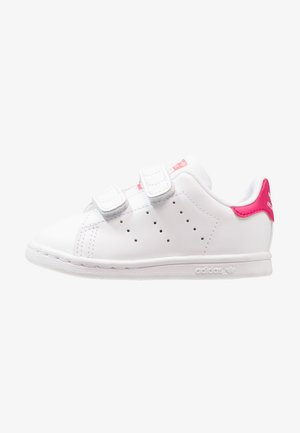 STAN SMITH CF I - Zapatos de bebé - white/bold pink