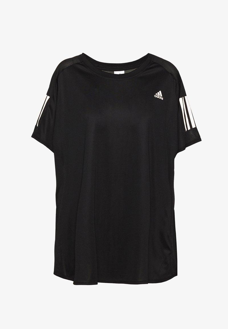 adidas Performance - OWN THE RUN TEE - T-shirt print - black