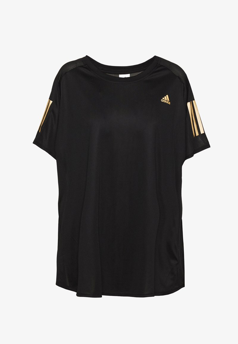 adidas Performance - OWN THE RUN TEE - Triko s potiskem - black
