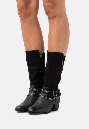 NEW PALAS - Kovbojské/motorkářské boty - black