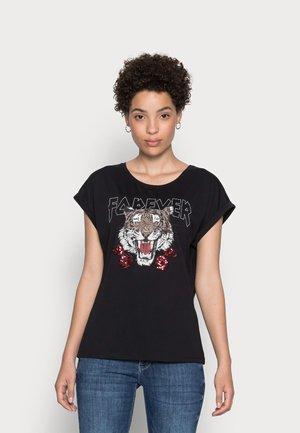 ELEA - T-shirt print - black deep