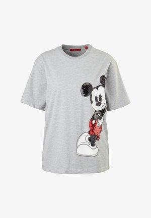 KURZARM - Print T-shirt - grey melange