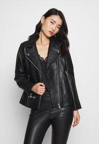 Samsøe Samsøe - WELTER JACKET  - Leather jacket - black - 0