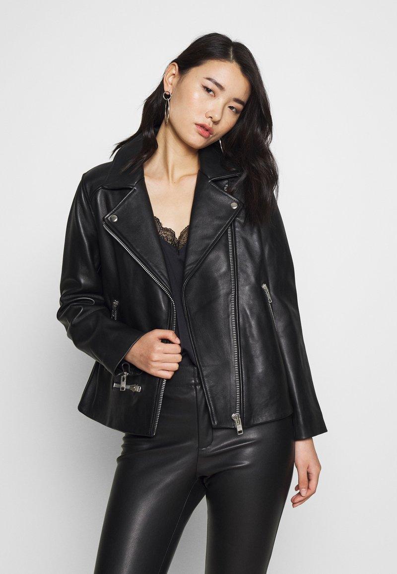 Samsøe Samsøe - WELTER JACKET  - Leather jacket - black