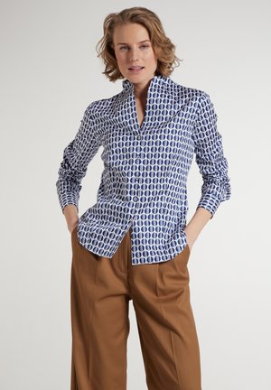 Button-down blouse - blau/weiß