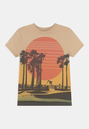 PHOTO - Print T-shirt - beige