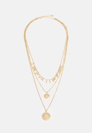 PCRAJ 3-CHAIN NECKLACE - Kaulakoru - gold-coloured