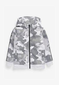 Next - CAMOUFLAGE PRINT - Zip-up sweatshirt - white - 0