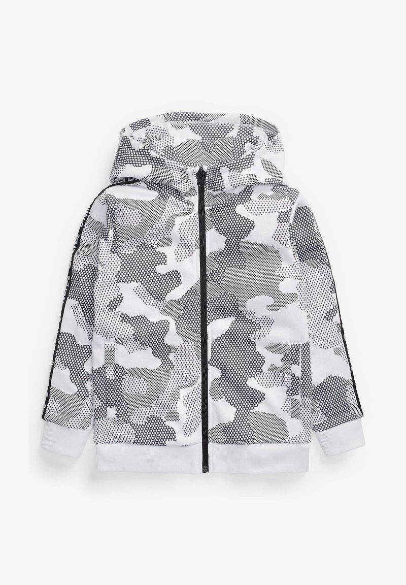 Next - CAMOUFLAGE PRINT - Zip-up sweatshirt - white