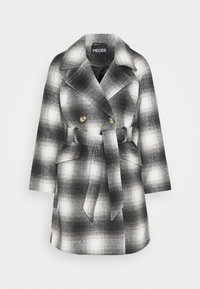 Pieces Petite - PCSIENA COAT - Classic coat - whitecap gray/brown/mole - 6