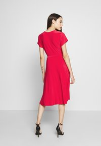 Wallis Petite - WRAP DRESS - Jersey dress - coral - 2