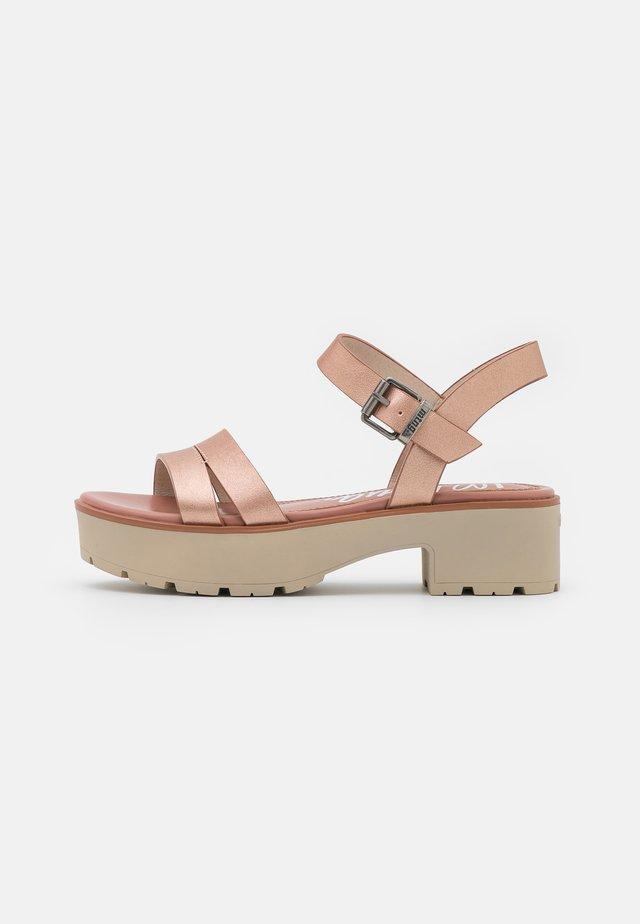 CURIE - Sandalen met plateauzool - vaquetin/oro rosa