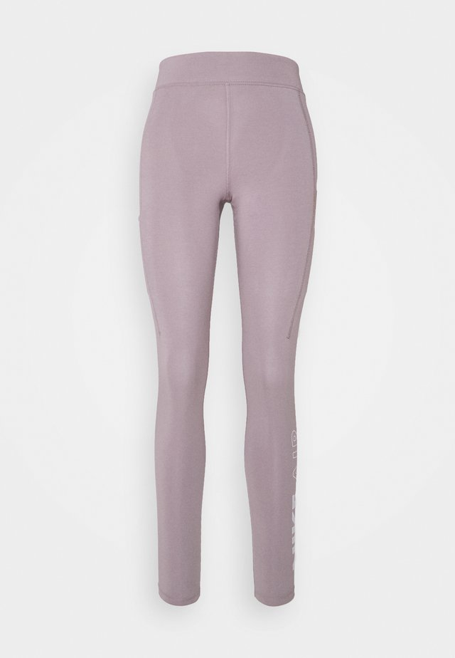 Leggings - Trousers - purple smoke/white