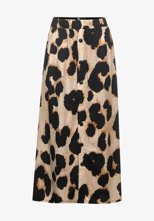 MIT LEOMUSTER - Maxi skirt - beige