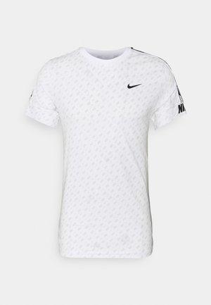 REPEAT TEE - T-shirt print - white/black