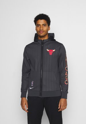 NBA CHICAGO BULLS CITY EDITON THERMAFLEX FULL ZIP JACKET - Chaqueta de entrenamiento - anthracite/black/white