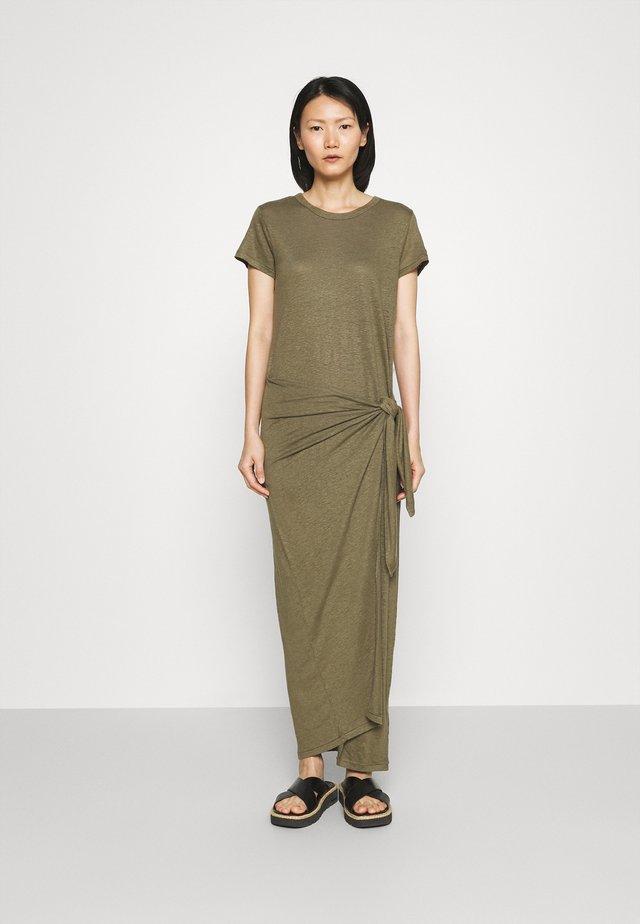 Długa sukienka - basic olive