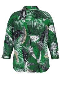 Samoon - Button-down blouse - leaves green gemustert - 1