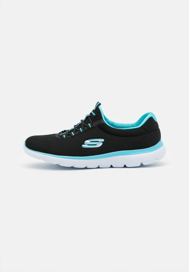 SUMMITS - Joggesko - black/turquoise