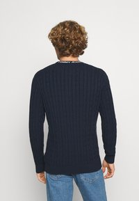 Tommy Jeans - ESSENTIAL CABLE SWEATER - Maglione - twilight navy