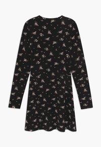 Blue Seven - TEENS FLORAL PRINT SKATER  - Jersey dress - schwarz - 1