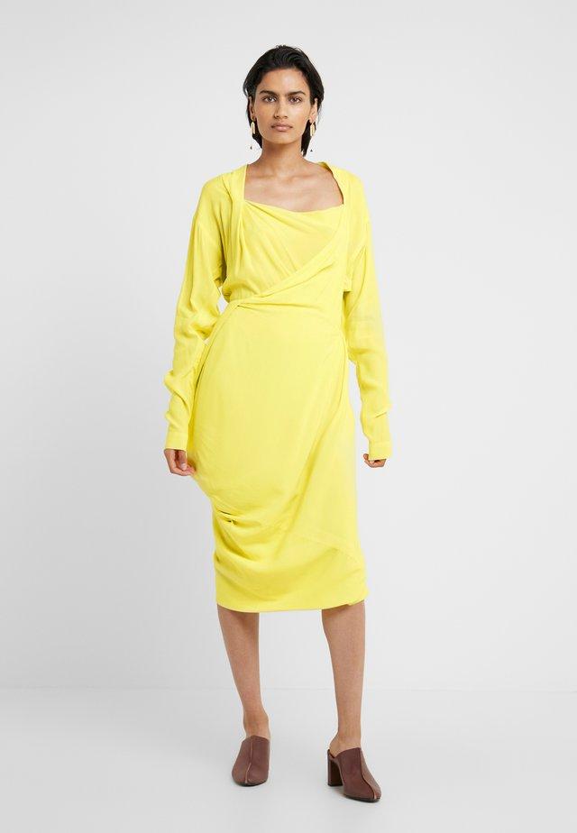 GRAND FOND DRESS - Vestito estivo - yellow
