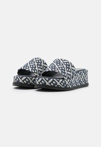 Bally - SYLVIE - Pantofle na podpatku - natural/midnight - 2