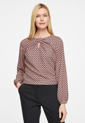 Blouse - red graphic minimal