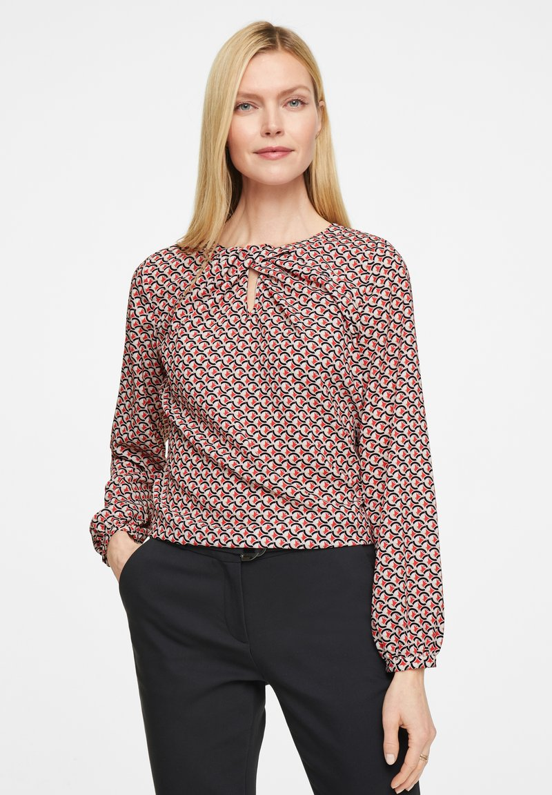 comma - Blouse - red graphic minimal
