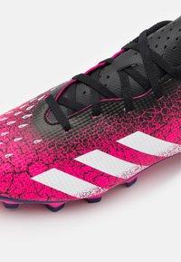 adidas Performance - PREDATOR FREAK .4 FXG - Moulded stud football boots - shock pink/footwear white/core black - 5