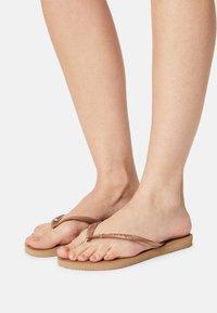 Havaianas - SLIM CRYSTAL SWAROVSKI - Pool shoes - rose gold - 1
