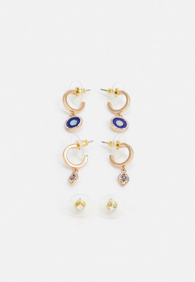 LINTHORST 3 PACK - Earrings - medium blue