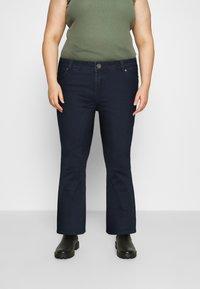 CAPSULE by Simply Be - KIM HIGH WAIST SUPER SOFT - Bootcut jeans - dark indigo - 0