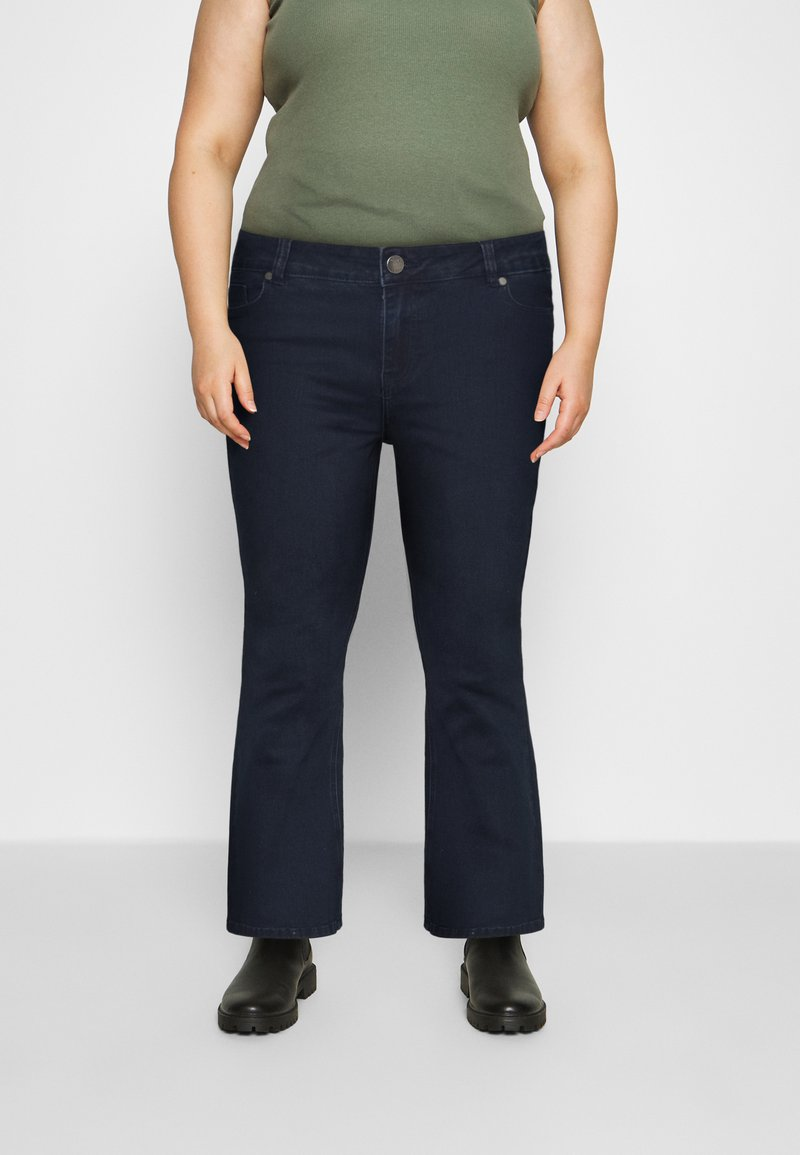 CAPSULE by Simply Be - KIM HIGH WAIST SUPER SOFT - Bootcut jeans - dark indigo