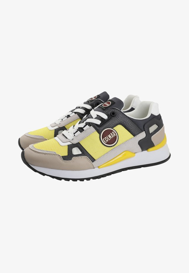 TYLER SPEED - Trainers - yellow / warm grey