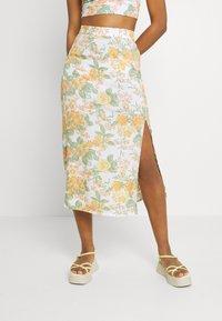 Monki - VIVVI SKIRT - Maxi skirt - white/dusty light - 0