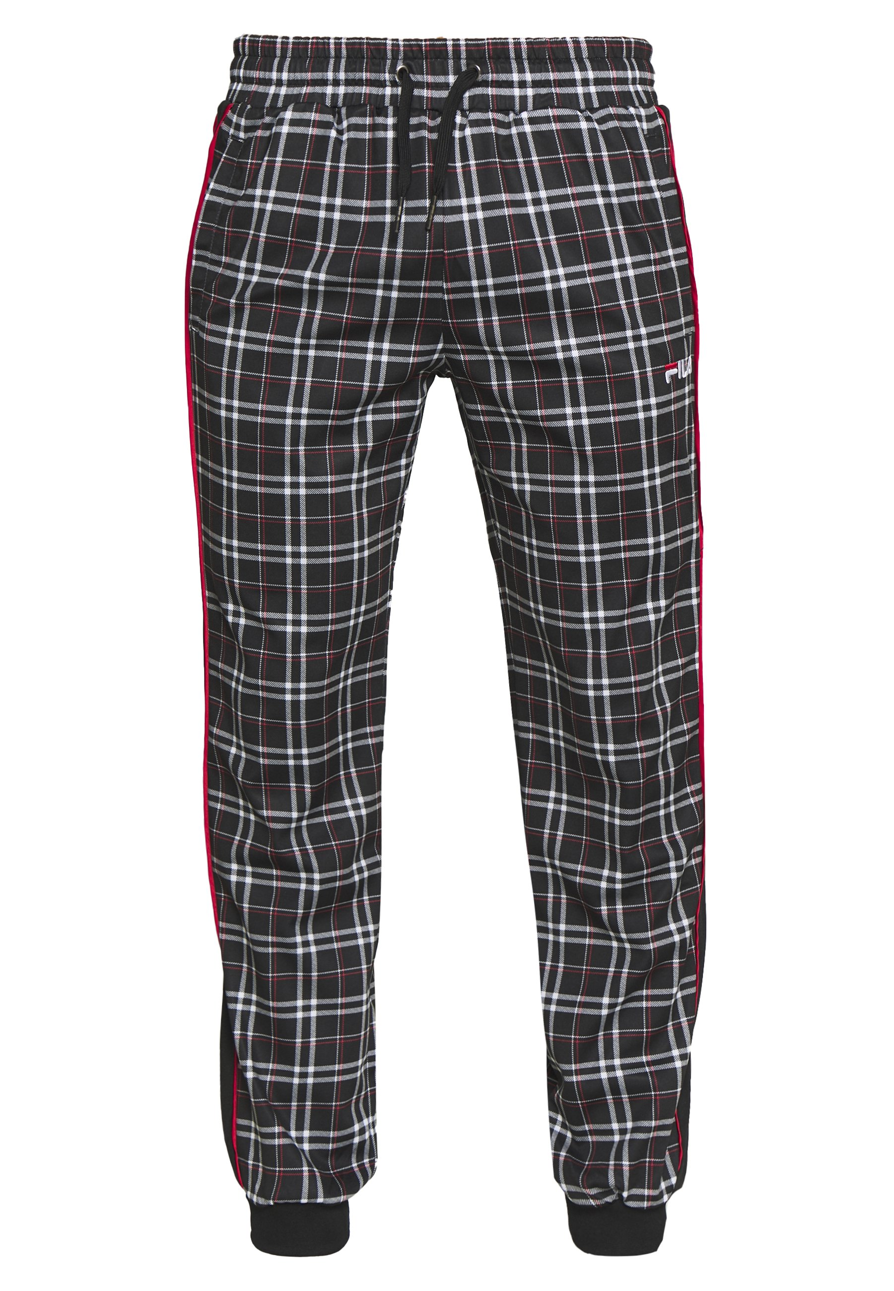 Fila TARUN TRACKPANT - Pantalon de survêtement - black/tartan